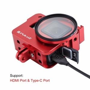 Image 5 - PULUZ שיכון מעטפת עבור GoPro גיבור 7 שחור 6/5 קשה מגן כלוב + 52mm UV עדשת 8*6*4.6cm דרכי פרו Hero5 2018