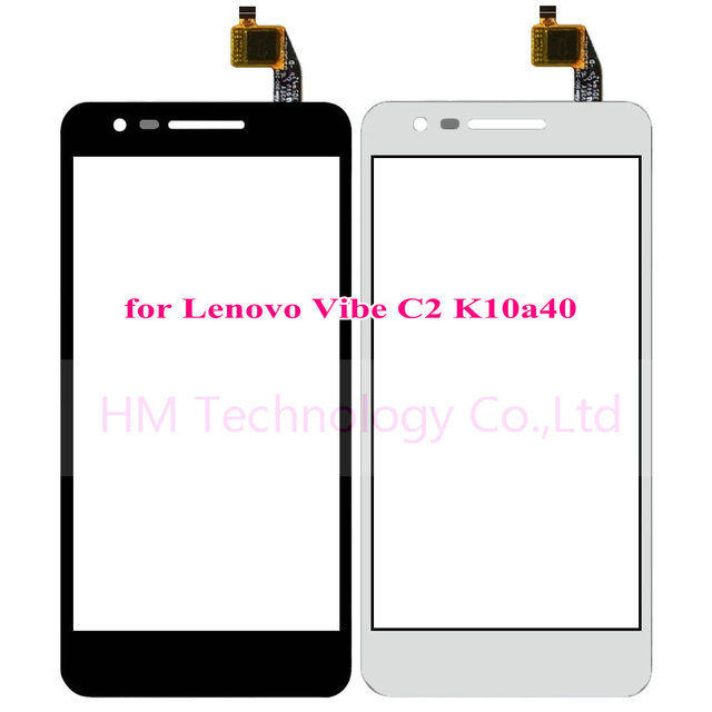 "5.0"" Black White TP for Lenovo Vibe C2 K10a40 Touch Screen Digitizer Front Glass Panel No LCD Replace Part Free Shipping+Tools"