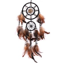 Hot Sale Dream Catcher With feathers Wall Hanging Decoration Decor Bead Ornament Free shipping-Y102