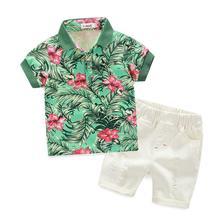 Garçons vêtements Bébé Garçons T-shirts + Shorts Pantalon vêtements ensemble d'été style enfants mode pas cher vêtements pour bébés bonne