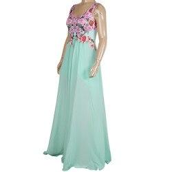 Kobiety koronka aplikacja elegancki koral sukienki biurowe maxi sukienki dla kobiet na wesele sukienka sukienka 3