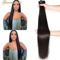 Бразильские прямые волосы 1 шт. сделка длинные remy натуральные волосы прямые волосы плетение пучков 26 34 дюйм(ов) ов) наращивание волос натурал