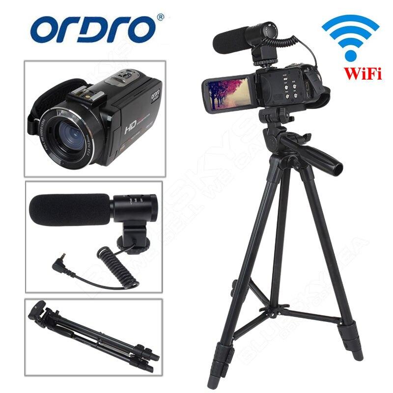 ORDRO Z20 Full HD Цифровая видеокамера Камера DV 1080 P 24MP 3 ЖК дисплей 16X зум с микрофон + штатив dijital kamera