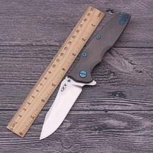 High Quality ZT0392 S35VN blade Titanium alloy handle Ball bearing system tactical folding knife hunting camping outdoors tool