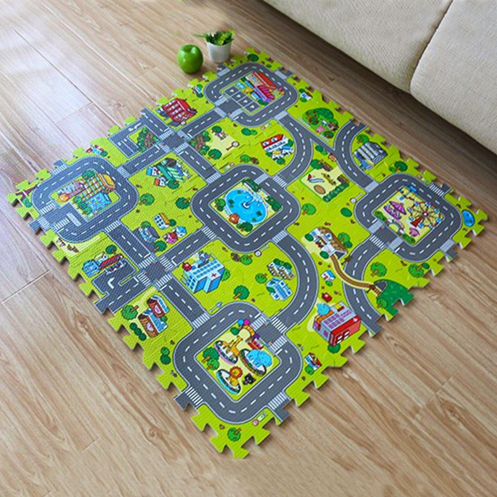Baby Crawling Mat Baby Carpet Alfombra de desarrollo para niños Juego de juguete para bebés Alfombra para niños Juguetes para bebés Rompecabezas de espuma EVA Juega Alfombra DropEnvío