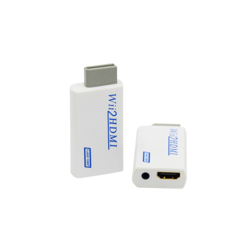 HTB1dbvBee7JL1JjSZFKq6A4KXXaS For Wii TO HDMI Converter Wii2HDMI with 3.5mm Audio Video Output Automatic Upscaler Adapter Support NTSC 480i PAL 576i 1080P
