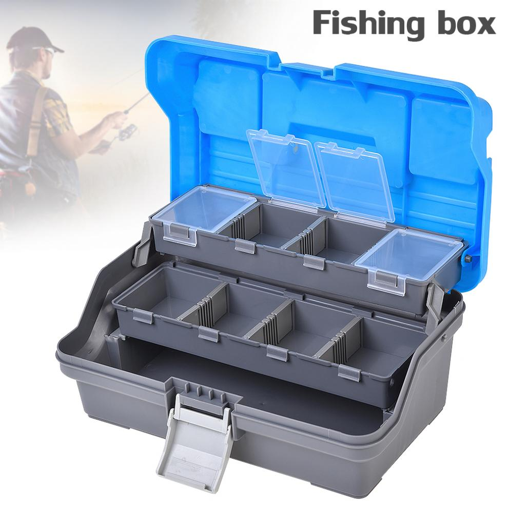 3 Layers Fishing Tackle Box Lures Hooks Lead Safety Clips Anti tangle Fishing Accessories Storage Box