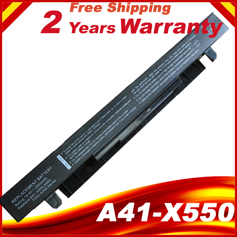 все цены на 2600mAh 14.4V Laptop Battery for ASUS A41-X550 A41-X550A X450 X550 X550C X550B X550V X550D X450C X550CA 4CELL онлайн