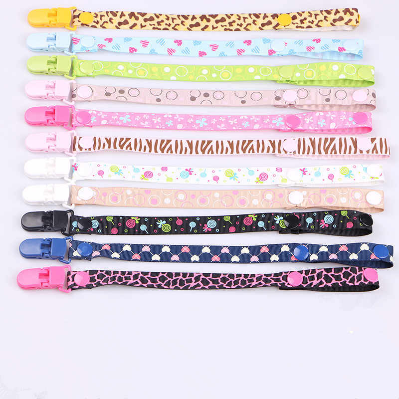 Cute Baby Pacifier Clips Pacifier Chain Dummy Clip Nipple Holder For Nipples Children Cartoon Dot Pacifier Clip Soother Holder