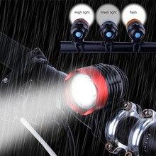 사이클링 손전등 3000 루멘 xml t6 led 램프 usb 인터페이스 led 자전거 자전거 라이트 램프 야외 헤드 라이트 3 모드