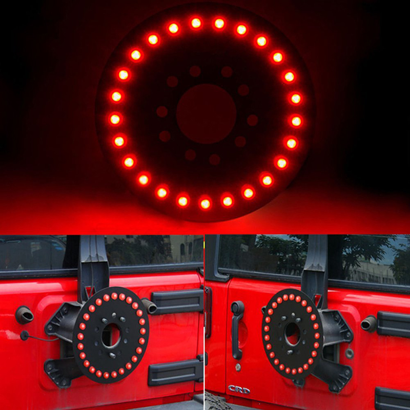 Spare Tire LED 3rd Third Wheel Rear Tail Brake Light Signals 25 led for Jeep Wrangler 1986-2017 YJ TJ JK JKU for Rubicon Sahara spare tire cover red wheel third light spare tire led third brake light for 2007 2017 jeep wrangler jk jku unlimited rubicon
