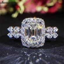 Choucong, сверкающее кольцо, 925 пробы, серебро, 2ct, AAAAA, циркон, cz, обручальное кольцо, кольца для женщин, вечерние ювелирные изделия