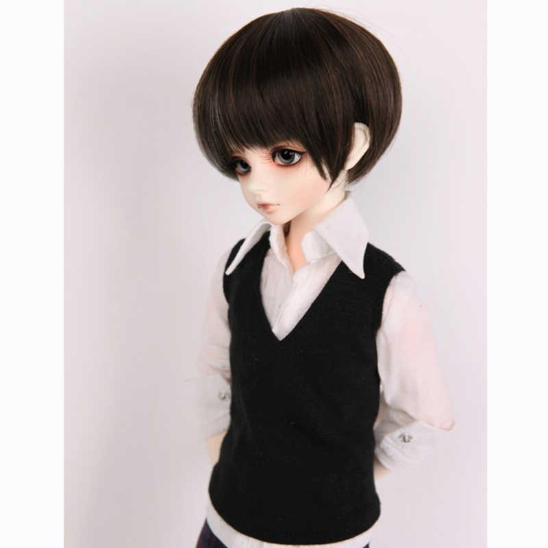 Allaosify 1/3 1/4 1/6 гигантский ребенок bjd кукла супер мягкие высокая температура шелка парик короткие сломанные челки несовершеннолетних мужских волос