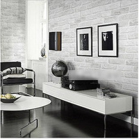 Vintage Grey White Brick Wallpaper Roll Bedroom Dinning Living Room Covering Vintage PVC 3D Wall Paper