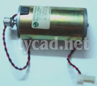 C2847 60221 C2858 60206 Motor assembly Includes power cable for the DesignJet 200 220 600 650 plotter parts used