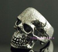 Сумасшедшая свинья тайский серебряный череп кольцо