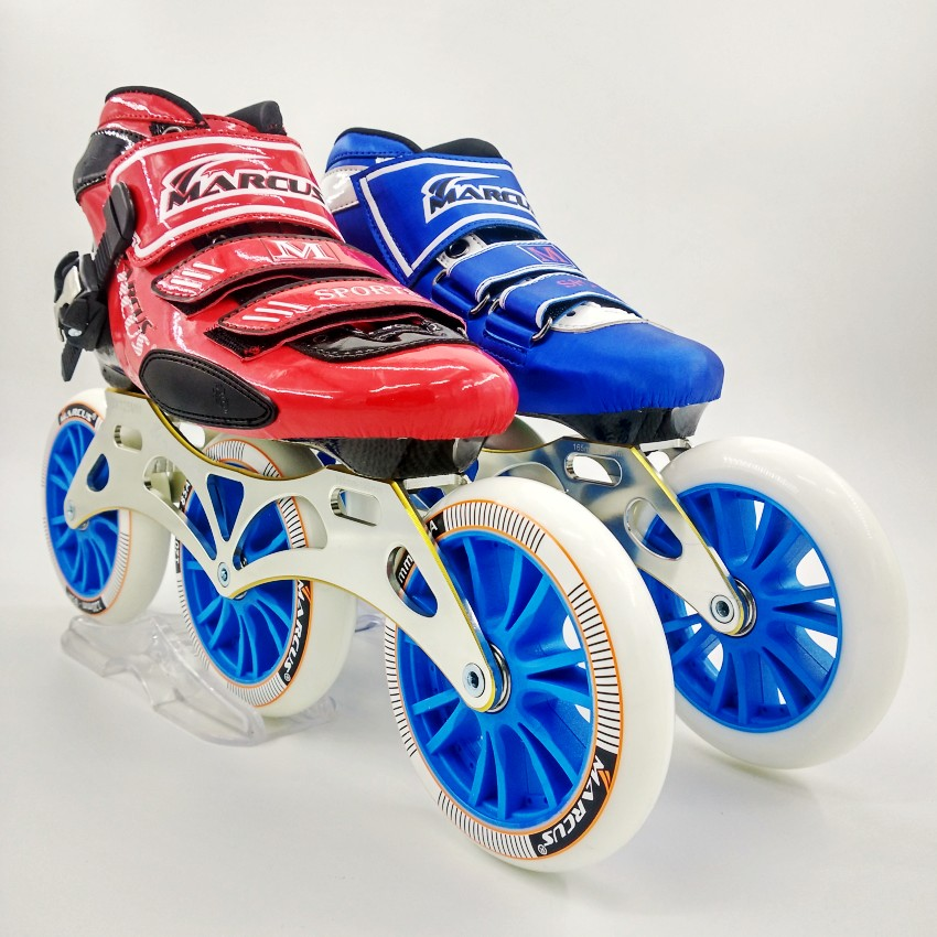 Original MARCUS speed skating font b shoes b font Professional adult child roller skates with 120mm