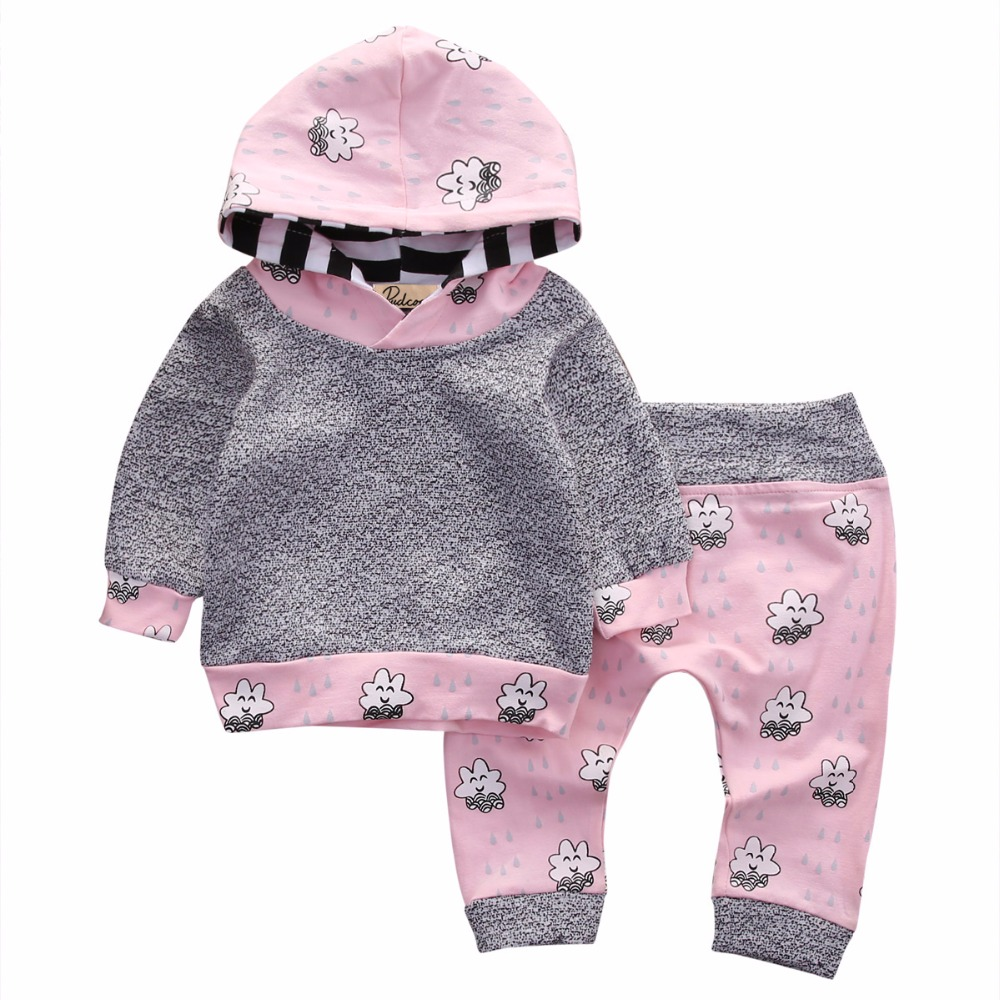 Pink Newborn Baby Girl Clothes Cute Smile Cloud Bebes ...