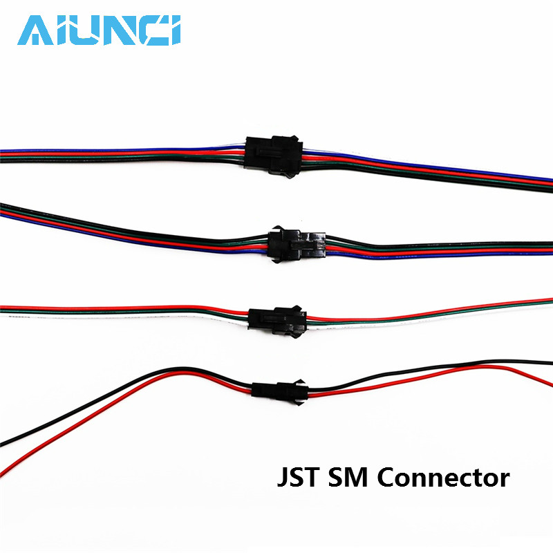 15cm Long JST SM Connector 2pin / 3pin / 4pin / 5pin Male And Female Set 5set/lot