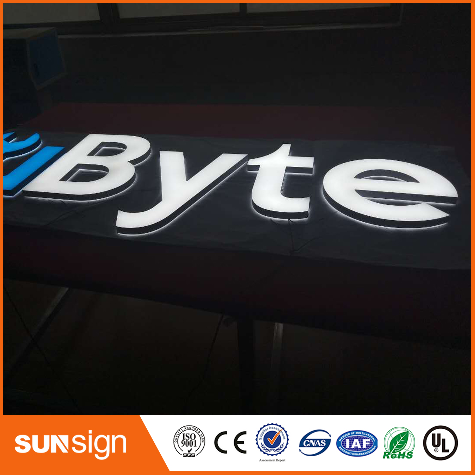 Hign Quality Acrylic Face Lighting Letters Sign For Outdoor