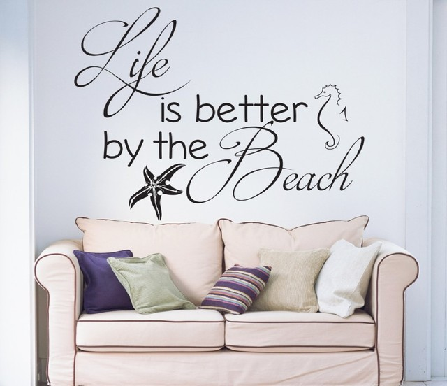 Life is better by the beach wall stickers home decor living room life is better by the beach wall stickers home decor living room vinilos paredes vinyl wall publicscrutiny Choice Image
