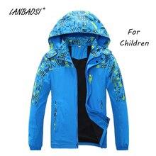 LANBAOSI Camo Softshell Jackets for Boys Girls Children Kids Fleece Windproof Waterproof Outdoor Hiking Climbing Camping