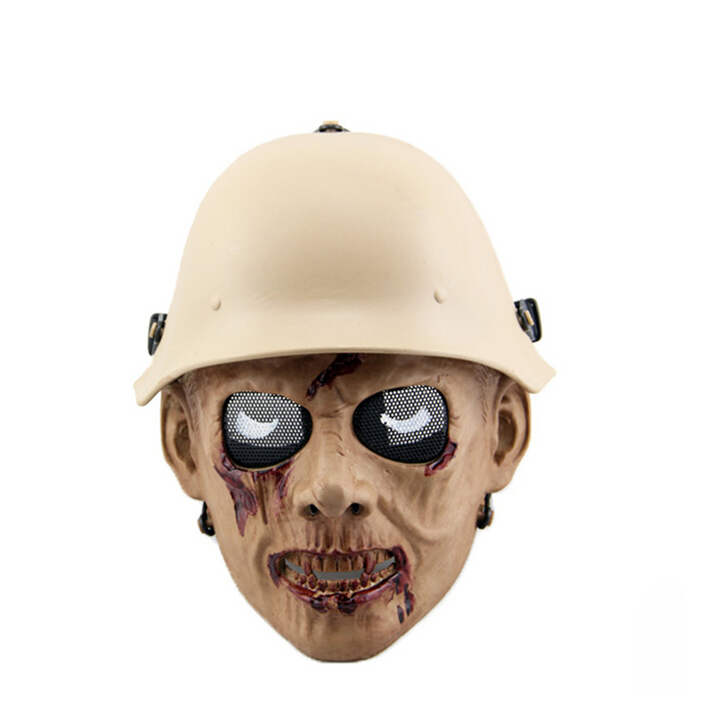 Outdoor Hunting Cs Wargame Mask Halloween mask Ghost Full Face Skull Bone Airsoft Paintball Mask-in Paintball Accessories from Sports & Entertainment