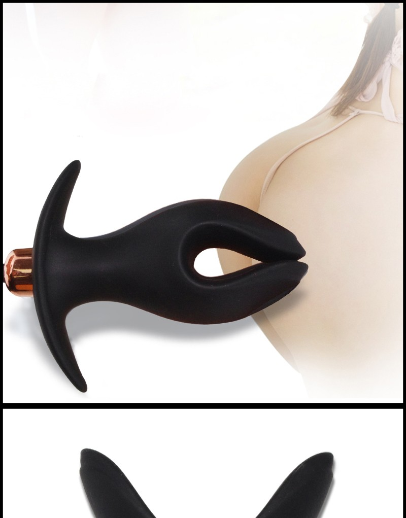 Black wolf electric new soft silicone anal plug SM sex toys open ass plug mirror prostate prosthetic toy Faloimitator female 3
