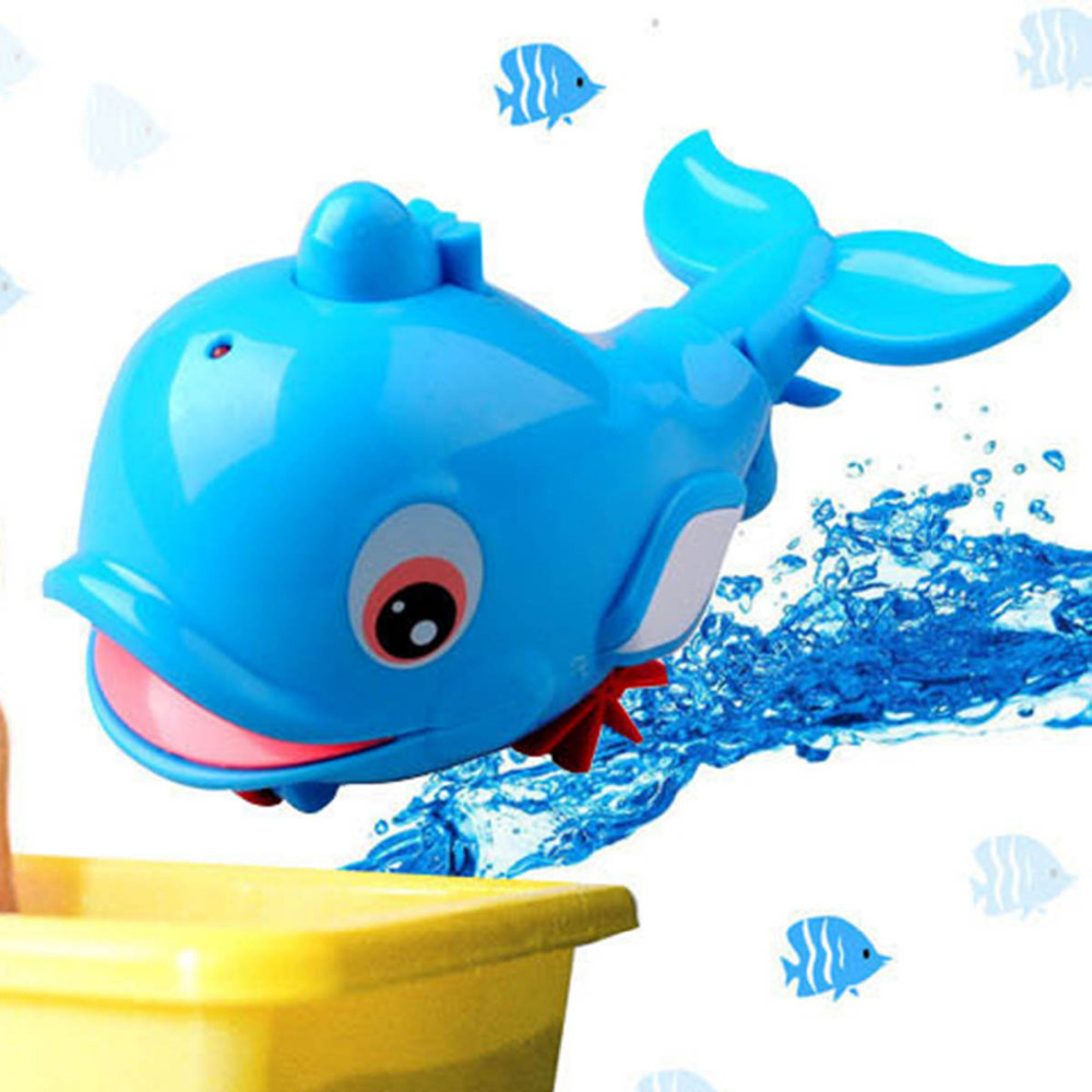 Bath Toy Cute Cartoon Animal dolphin Baby Bath Toys Dolphin Classic Squeeze Bathing Baby Kid Bathroom Funny spout showers water