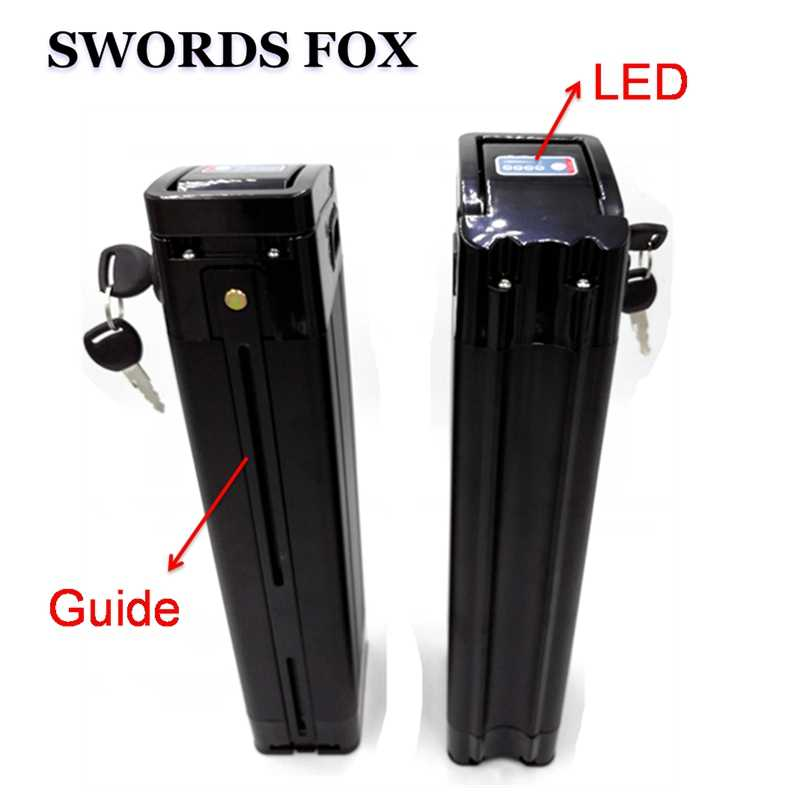 SWORDS FOX 48V 15Ah Black fish 750W 1000W Ebike 30A BMS Top discharge port telectric bike lithium battery 48v battery