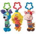 Ultra-soft Stuffed Animals Toys Giraffe dog chicken Grasping Rattles Stick The BB Devices Has Teethers Baby Toys 0-1 Years