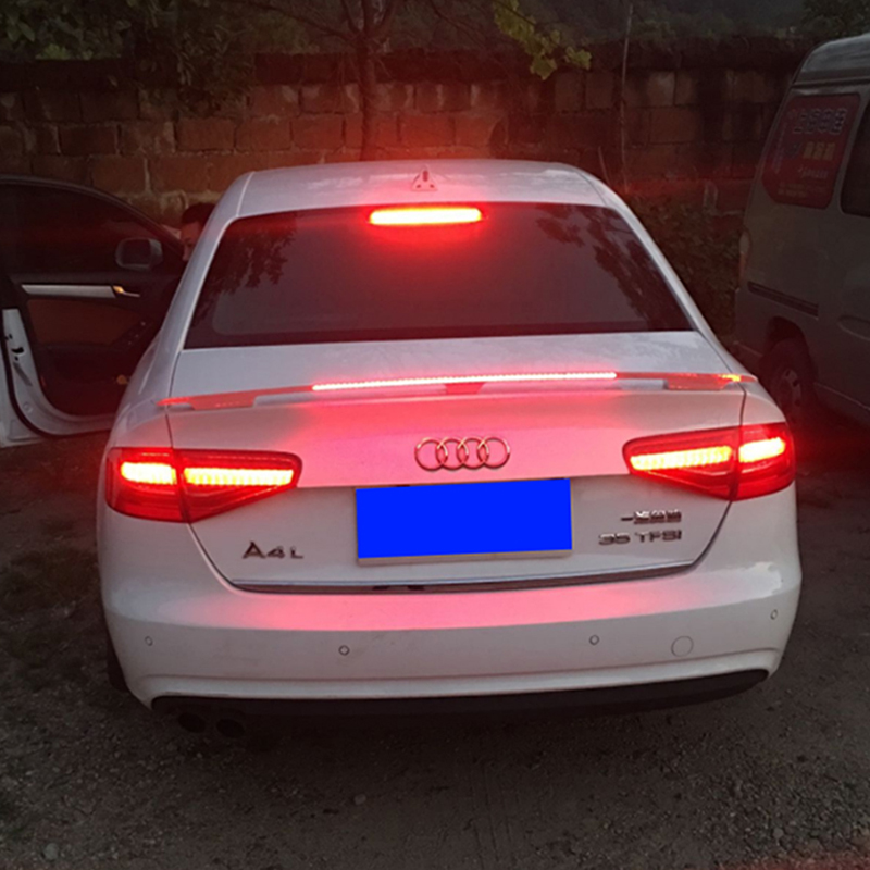 For Audi A4L A5 A6L A7 A8 super run spoiler ABS material rear tail primer color suitable for Audi A4L A5 A6L A7 A8 spoiler tri blade hand fidget spinner focus toy