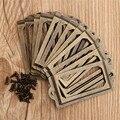 Hot Sale 12Pcs Antique Brass Metal Label Pull Frame Handle File Name Card Holder For Furniture Cabinet Drawer Box Case Bin