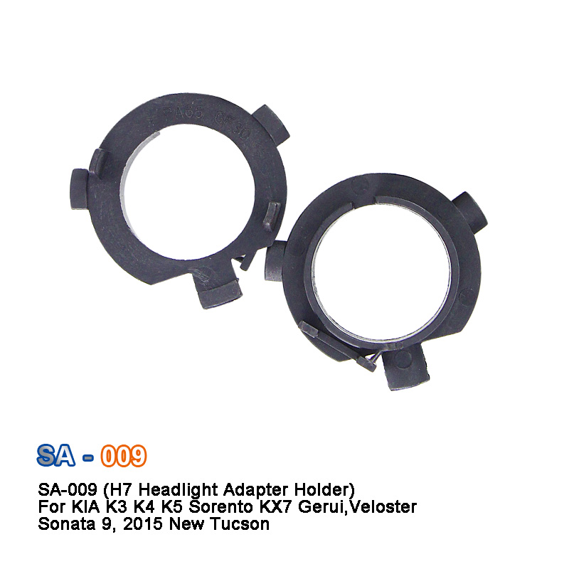 SAARMAT 10*Pieces <font><b>H7</b></font> Headlight Bulb Holders <font><b>Adapters</b></font> Base For KIA K3 K4 K5 Sorento, 2017 KX7 ,16 <font><b>Outlander</b></font> ,Ge Rui ,Chi running image