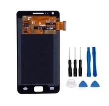 Получить скидку Хорошее качество ремонт Запчасти для Samsung Galaxy S2 i9100 ЖК-дисплей Дисплей + Сенсорный экран сборки 100% тестирование Замена + Инструменты