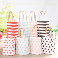 New Arrival Small Gift Bag With Handle Simple Elegant Packing Bags Wedding Paper Candy Bags Portable