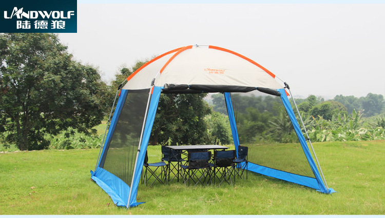 Single layer big pergola!Landwolf outdoor pergola canopy tent awning large outdoor park people rain UV shade outdoor double layer 10 14 persons camping holiday arbor tent sun canopy canopy tent