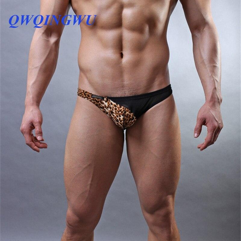 Sous-vêtements Homme léopard Homme slips confortable respirant maille sous-vêtements gai Cuecas Slip Homme Sexy Jockstrap slips