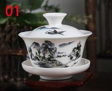Chinesische traditionen gai wan teaset Bone China Tee-Sets Dehua gaiwan tee porzellan teekanne set für reise Schön und einfach wasserkocher