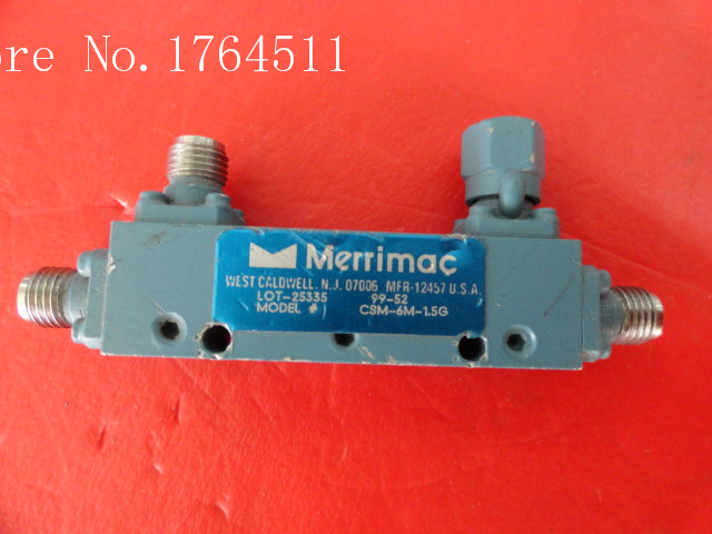 [BELLA] MERRIMAC CSM-6M-1.5G 1-2GHz RF Microwave Directional Coupler 6dB