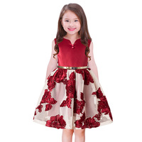 Girls Flowers Lace Summer Dress For Birthday Party And Wedding Prom Princess Clothes Kids Frock Designs