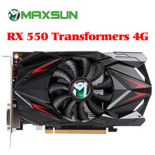 MAXSUN видеокарта Redon RX 550 graphic card 4G GDDR5 6000MHz 128bit 1183MHz PWM DirectX 12 HDMI+DP+DVI 512unit RX550 video card(China)