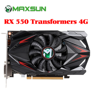 Image 1 - MAXSUN видеокарта Redon RX 550 גרפי כרטיס 4G GDDR5 6000MHz 128bit 1183MHz PWM DirectX 12 HDMI + DP + DVI 512 יחידה RX550 וידאו כרטיס