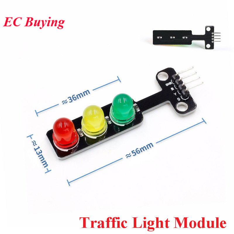 5PCS DC 5V Mini Traffic Light LED Display Module 5mm Red Yellow Green For Arduino RGB -Traffic Light For Traffic System Model