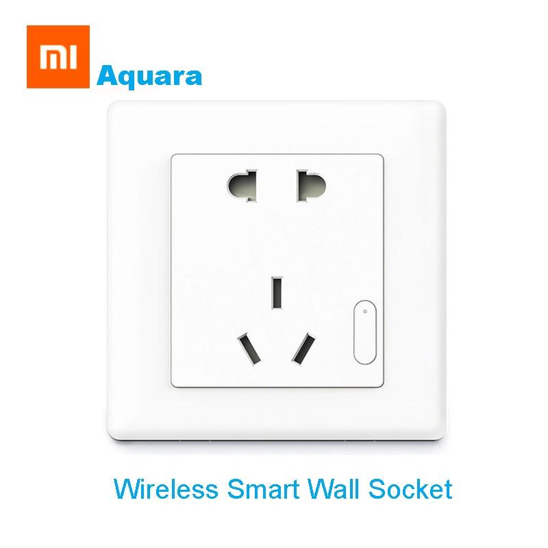Xiaomi Aqara Smart Wall Socket WIFI Remote Control Auto Smart Wireless Switch Home Device Work For Xiaomi Smart Home Kits