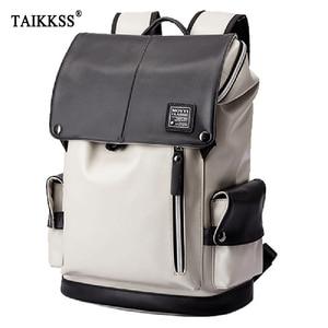 Image 1 - กระเป๋าเป้สะพายหลัง PU หนัง USB ชาร์จแล็ปท็อปกระเป๋าชายกันน้ำ Travel กระเป๋าเป้สะพายหลังแฟชั่นสบายๆคุณภาพกระเป๋า