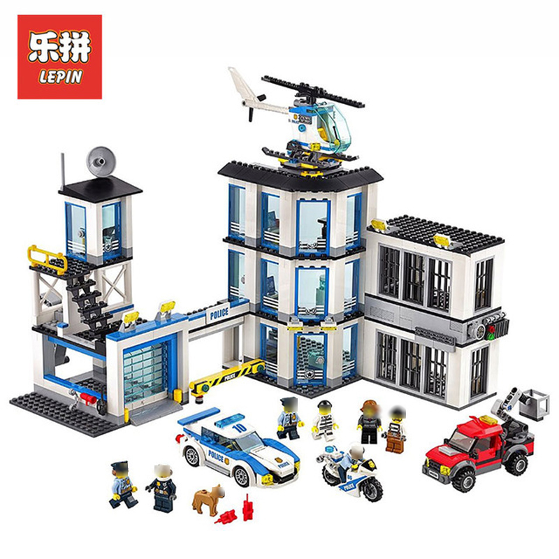 In Stock Lepin Sets 02020 965Pcs City Figures Police Station Model Building Kits Blocks Bricks Educational Kids Toys Gift 60141 new city police station fit legoings city police station swat figures building blocks bricks kids boys diy toys 60141 gift kid