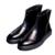 YJP Primavera/Otoño de Charol Botas de Cremallera, negro Talón Grueso Forro Transpirable Ocio Botín, los hombres de Moda Casual Shoe