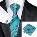 Laço do natal para Homens Clássicos 8.5 cm Paisleys Gravata Lenço Abotoaduras Set 100% Tecido Jacquard Gravata para Festa de Amigo Da Família C-455