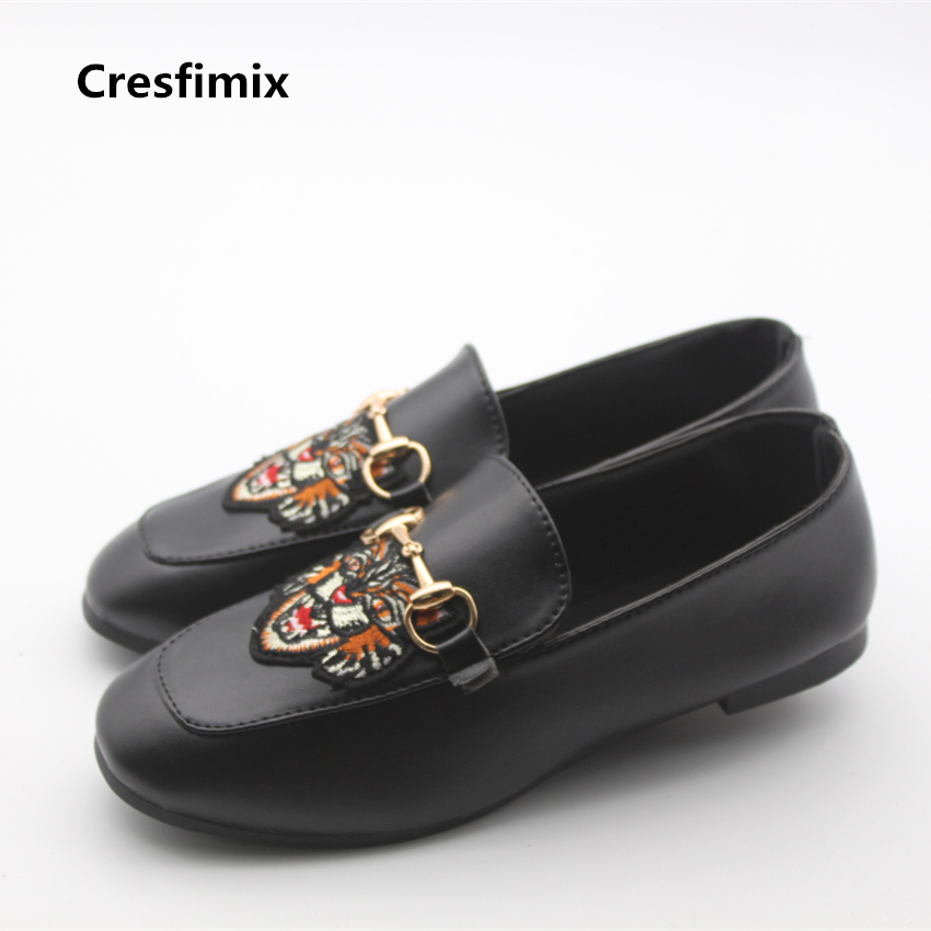 Cresfimix femmes mignonnes chaussures women fashion pu leather summer slip on flat shoes lady casual street comfortable shoes cresfimix women fashion
